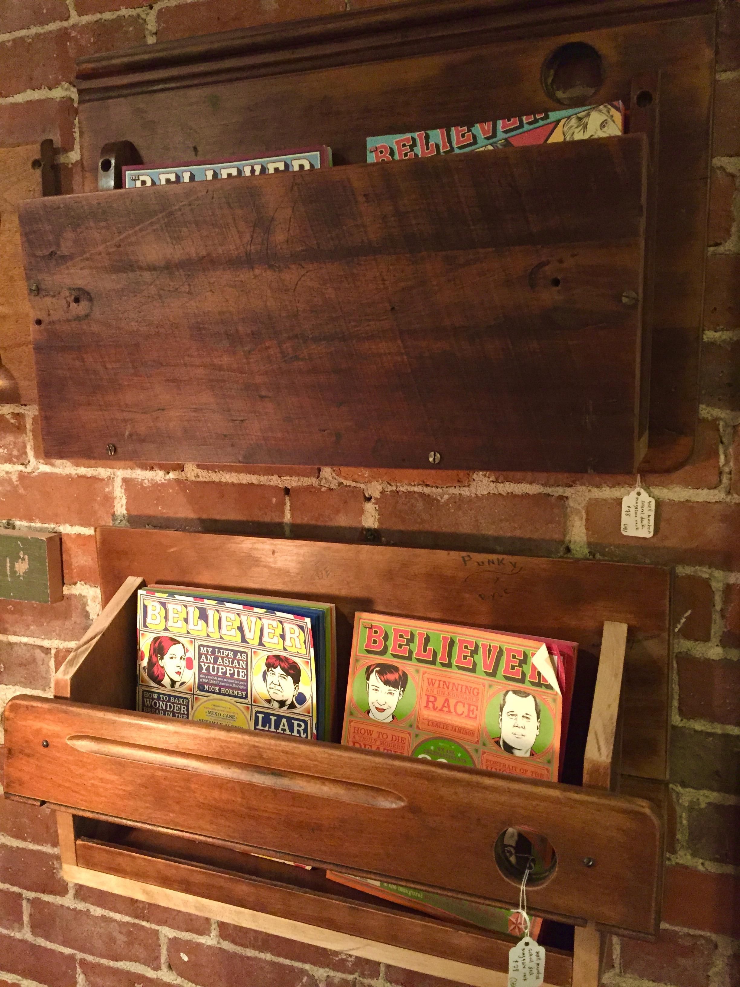 Magazine Racks from Repurposed School Desks