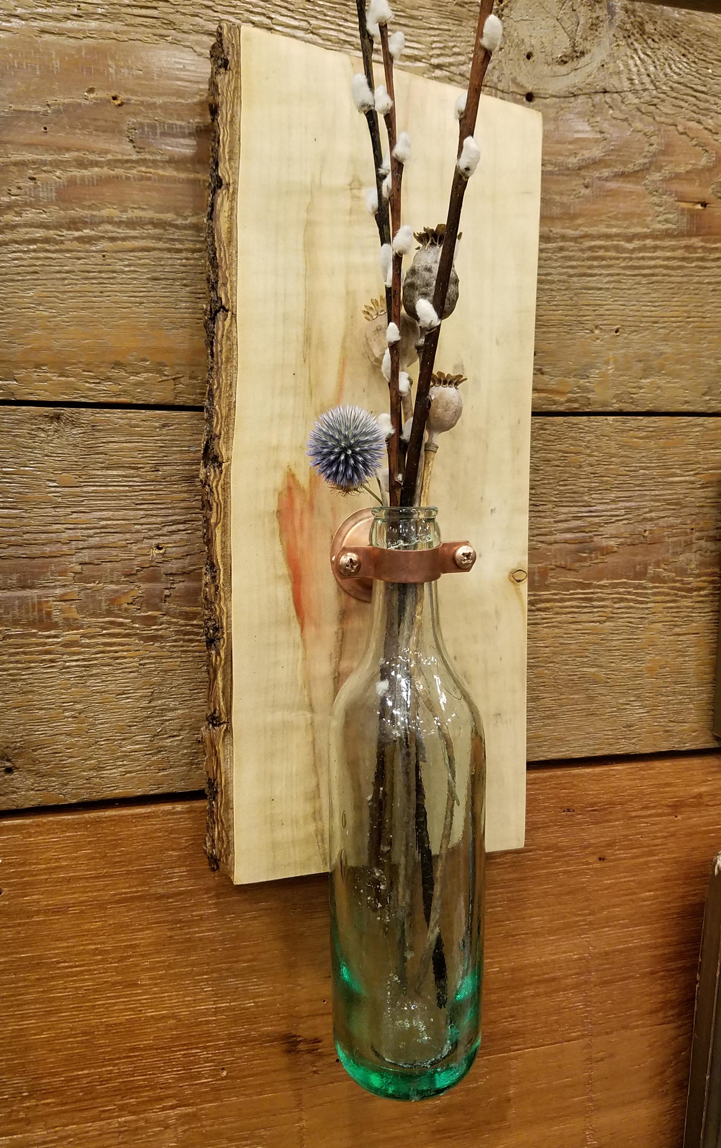 Wall Mounted Torpedo Bottle Vase