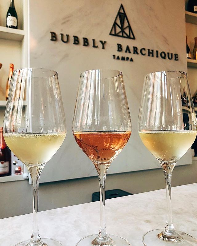 It's time for some bubbly 🥂 .⠀ At @bubblybarchique you can pop, sip, and shop all at the same time. Happy Hour is Tuesday - Friday 4pm-7pm! ⠀ .⠀ 📷: @krizzgrizz
