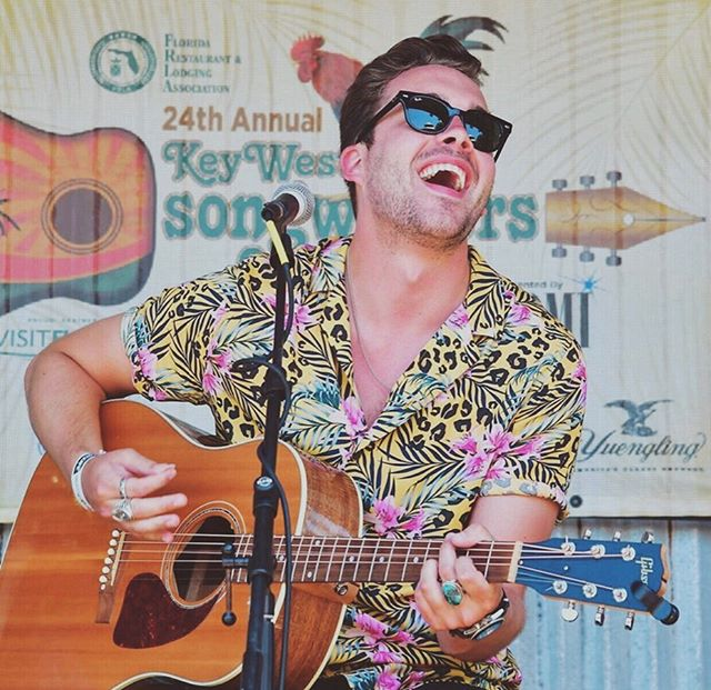 This is a crazy life. I always have so much fun coming to Key West, playing music for new friends. Thank you, @bmi! #keywestsongwritersfestival