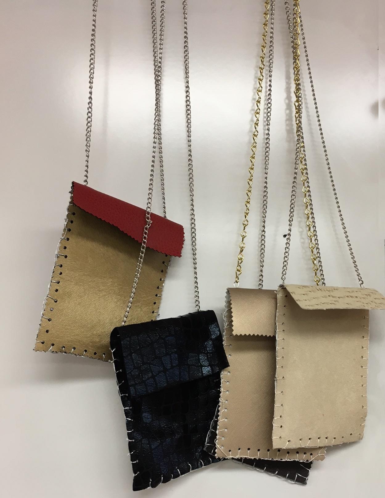 Upcycled Purses made using FabMo fabrics