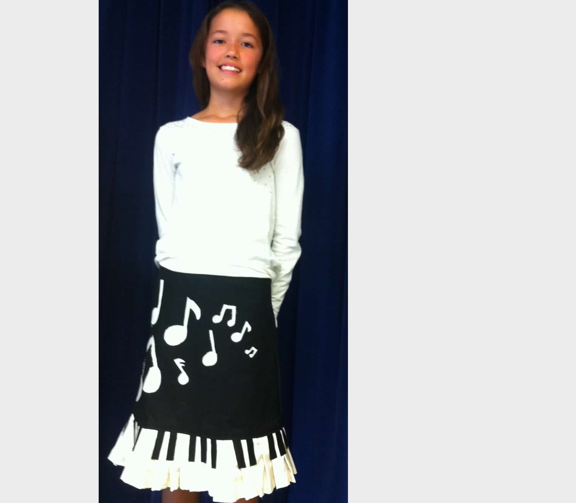 'Piano' skirt designed by a middle school student