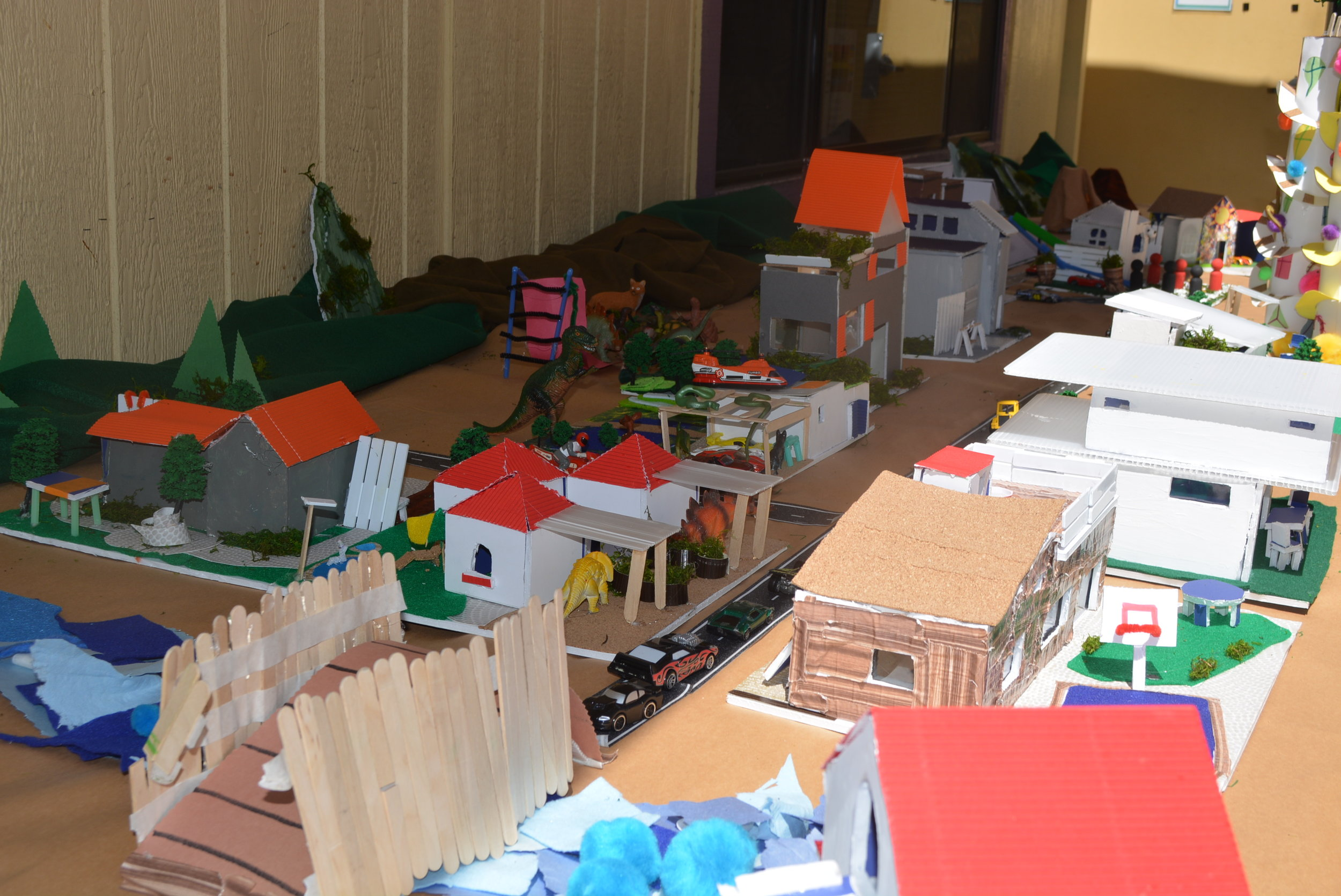 Our campers managed to plan and build an entire neighborhood from scratch!