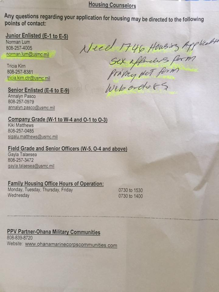Ohana Communities Leasing and wait list information