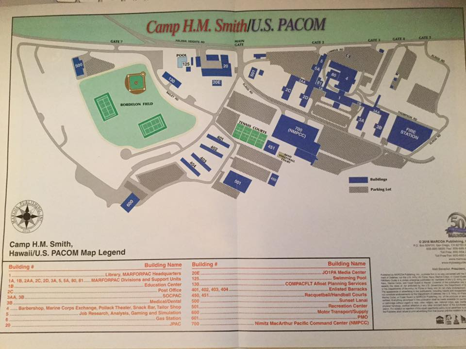 MAP OF CAMP SMITH
