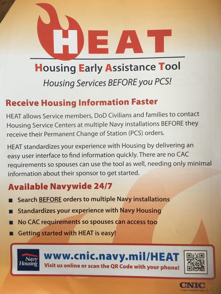 HEAT Navy base housing registration
