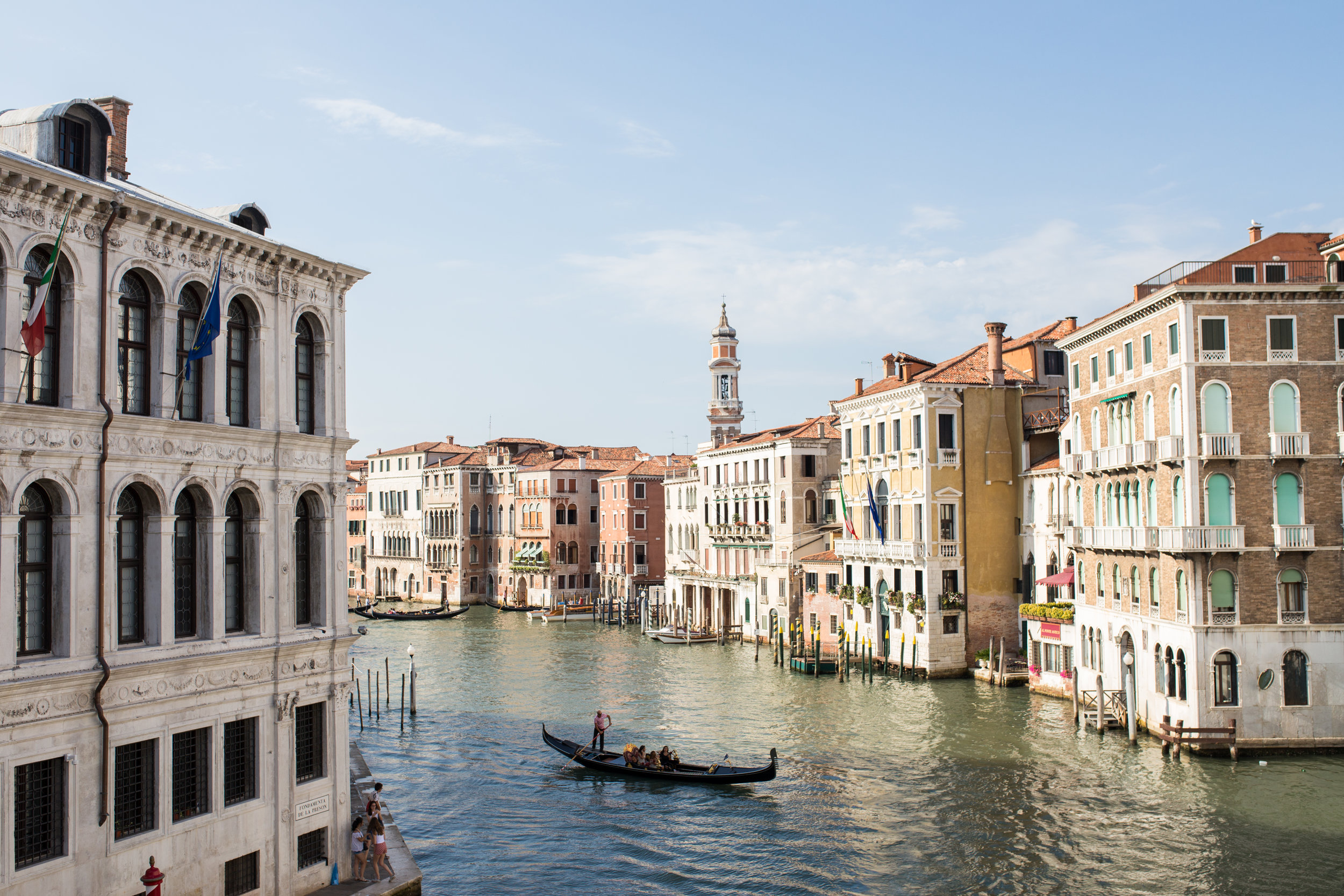 The Grand Canal, as seen from the Rialto Bridge