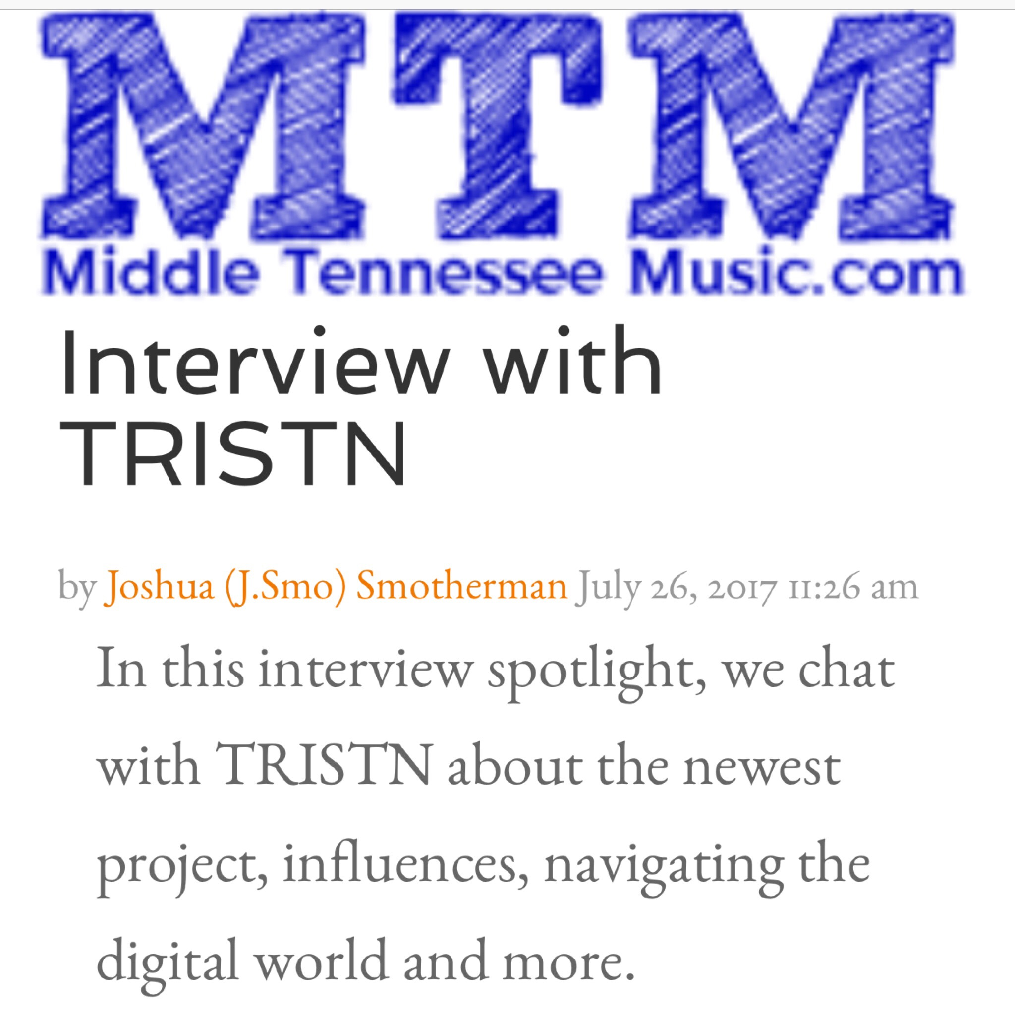 MIDDLE TENNESSEE MUSIC - Do you face any challenges as an indie musician in a digital age? On the flip side, how has technology helped you (if it has)?