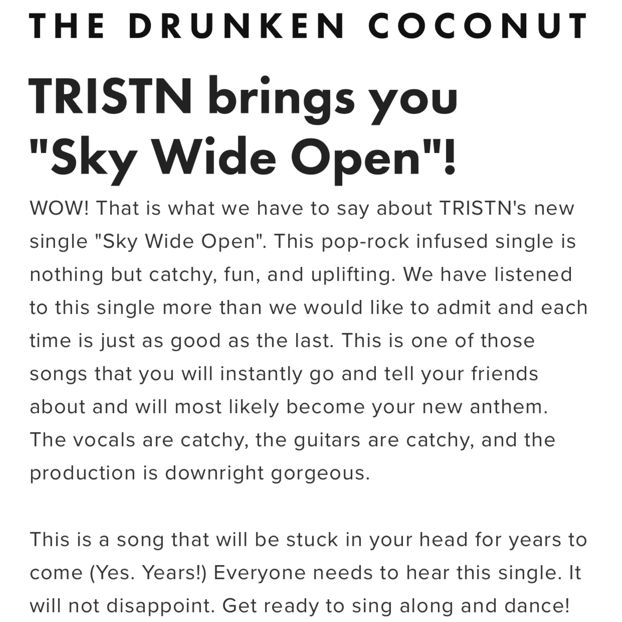 THE DRUNKEN COCONUT - REVIEW -