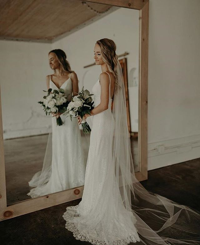 Gorgeous, moody bridals in the Studio. Who knew a simple mirror could make such a great photo prop? | @bolgianomedia