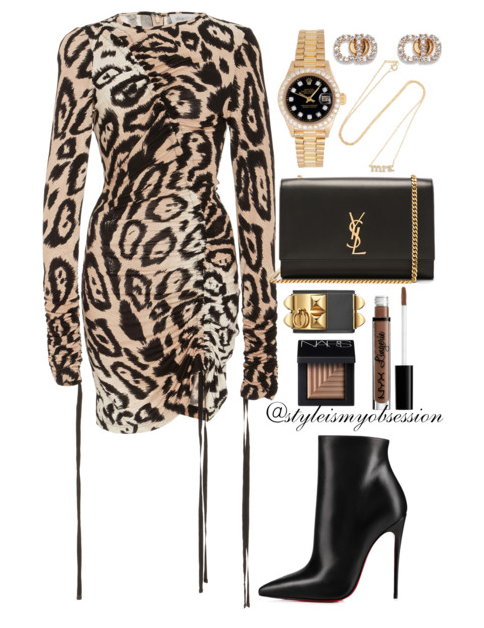 Style Inspiration On The Prowl Alice McCall Leopard Print Dress Christian Louboutin Ankle Boot Saint Laurent Monogram Kate Bag.PNG