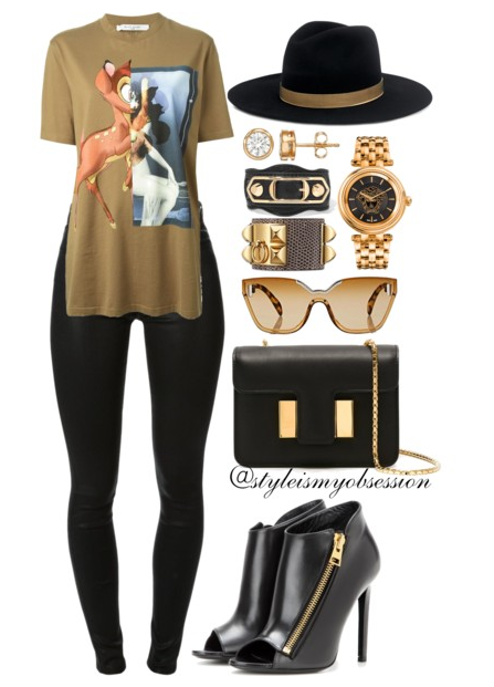 Style Inspiration Bambi Givenchy Bambi T-shirt J Brand Maria Skinny Jeans Tom Ford Booties Tom Ford Sienna Bag Janessa Leone Fedora Hat.PNG