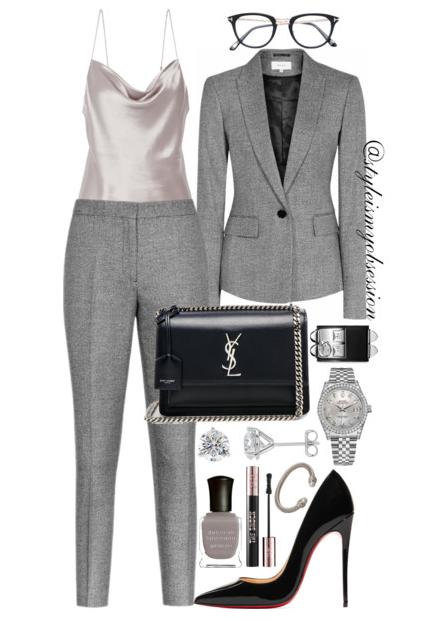 Style Inspiration The Suit Reiss Suit Christian Louboutin So Kate Pumps Saint Laurent Bag Tom Ford Eyeglasses.PNG