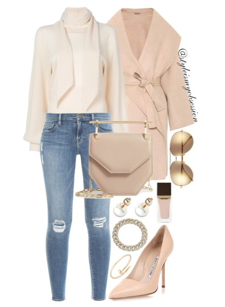 Style Inspiration Mink Cashmere Bottega Veneta Cashmere Coat Chloe Tie Neck Sweater Frame Denim Jeans Manolo Blahnik BB Nude Pumps M2Malletier Mini Amor Leather Shoulder Bag.PNG