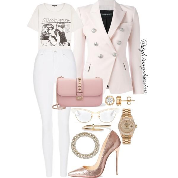 Style Inspiration Fountain of Youth Balmain Blazer Christian Louboutin So Kate Sequin Pump Valentino Rockstud Shoulder Bag.jpg