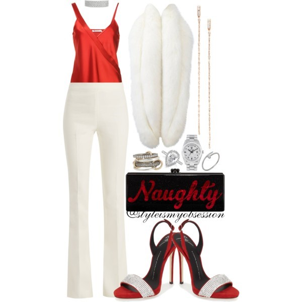 Style Inspiration What To Wear To A Holiday Party T by Alexander Wang Satin Top Giuseppe Zanotti Coline Slingback Sandal Edie Parker Flavia Clutch.jpg