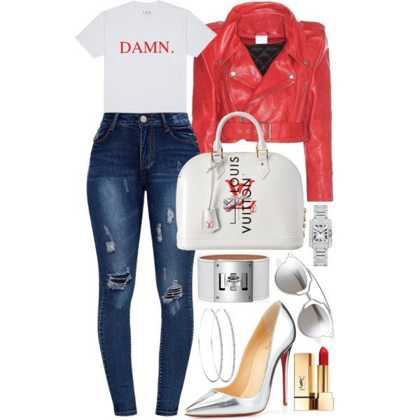 Style Inspiration Well Damn Vetements Leather Jacket Christian Louboutin Silver So Kate Pump Louis Vuitton White Leather Bag Dior So Real Sunglasses.jpg