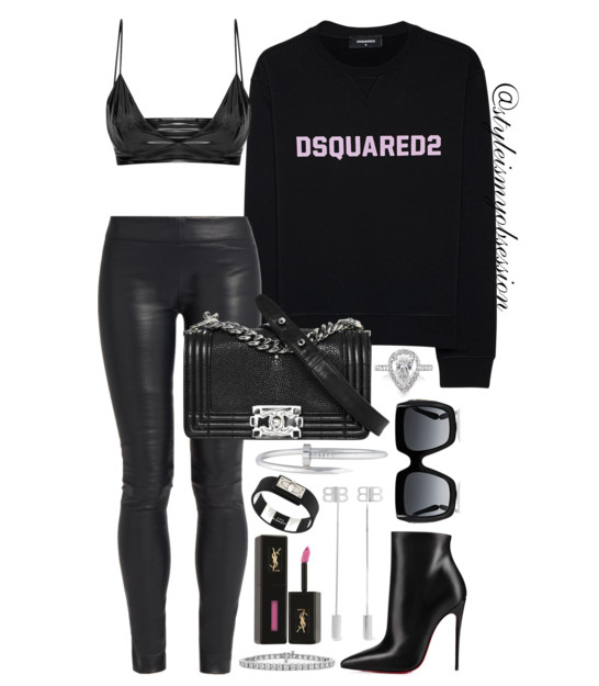 Style Inspiration Square Biz Dsquared2 Sweatshirt The Row Leather Leggings Chanel Boy Bag Christian Louboutin So Kate Ankle Boot.PNG