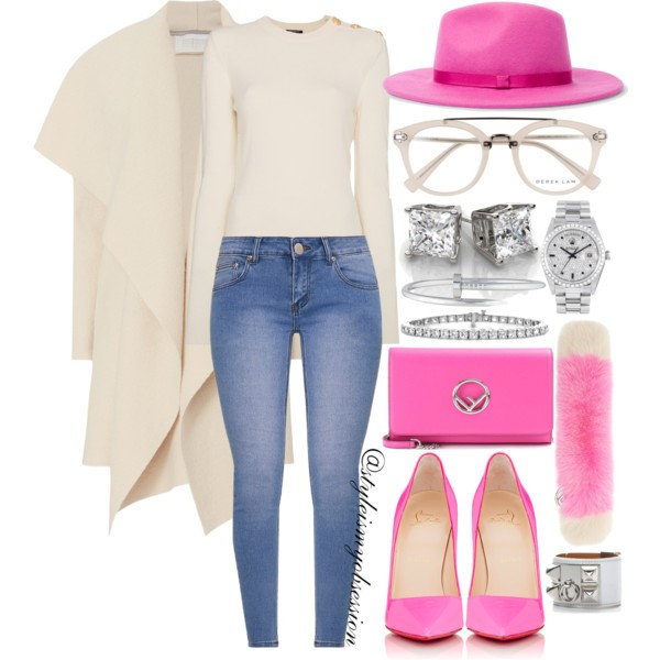 Style Inspiration Fashion Geek Harris Wharf Blanket Coat Balmain Sweater Christian Louboutin So Kate Pump Fendi Chain Wallet Shoulder Bag Fendi Buckle Fur Scarf.jpg