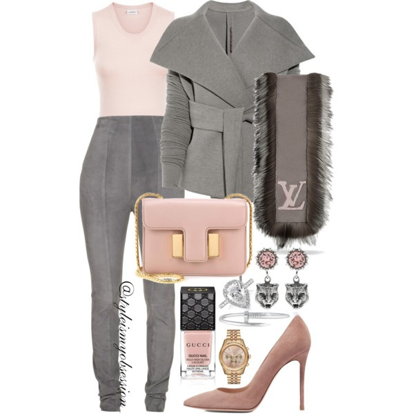 Style Inspiration Sunday Chic Rick Owens Lilies Jacket Balmain Suede Leggings Tom Ford Sienna Bag Gianvito Rossi Suede 105 Pump.jpg