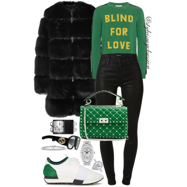 Style Inspiration Love Is Blind Givenchy Fur Coat Gucci Blind For Love Sweater Balenciaga Race Runner Sneakers Valentino Free Rockstud Bag.jpg