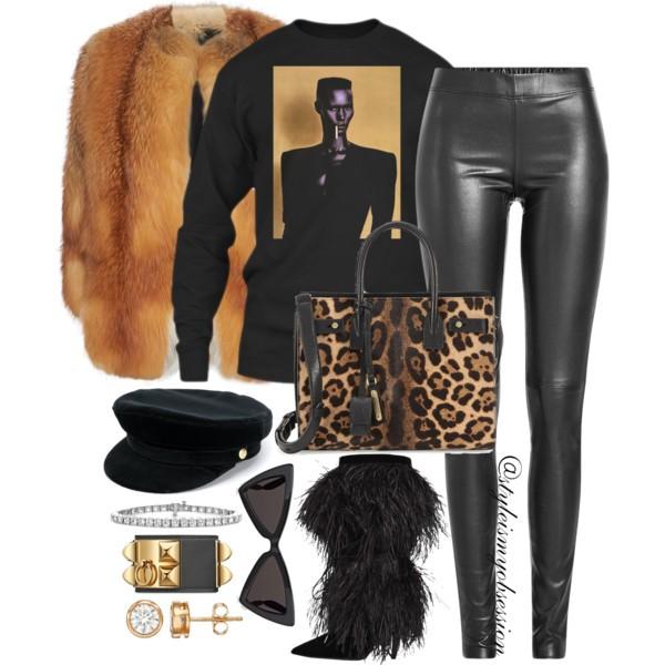 What To Wear For Black History Month Grace Jones Inspired Outfit Idea Yves Salomon Fox Fur Coat Saint Laurent Leopard Print Sac De Jour Bag Saint Laurent Era Feather Boot.jpg