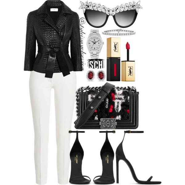 Style Inspiration Crocodile Hunter Fendi Croc-Effect Leather Jacket Saint Laurent Classic Jane Sandal Chanel Bag Anna-Karin Karlsson Decadence Crystal-Brow Sunglasses.jpg
