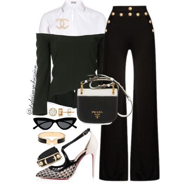 Style Inspiration Class Act Balmain Wide-Leg Trousers Christian Louboutin Twistissima Pump Prada Pionniere Bag.jpg
