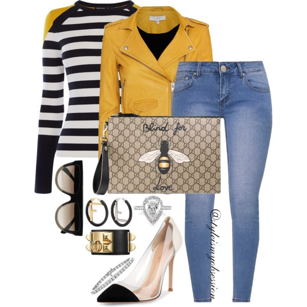 Style Inspiration Flight of the Bumble Bee Iro Jacket Karen Miller Sweater Gucci Blind For Love Pouch Gianvito Rossi Plexi Pump.jpg
