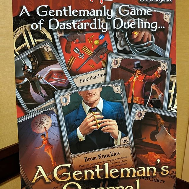 """We're back from #GenCon and it was a blast! From trying out new games, playtesting our second game """"A Gentleman's Quarrel"""", to just having good times with friends... This year's trip was another unforgettable experience.  We got some valuable feedback from our playtesters at FEPH, aka First Exposure Playtest Hall, which was super helpful last year with our first game Filibuster.  If you haven't heard of @biplanegames and you like tabletop games, please join our mailing list for latest updates ❤️ it's one of the best ways to support us on our journey to making games and bringing people together.  Now to catch up on sleep.... 💀💀💀 #whohaspaintingtodo #tabletopgames #deckbuilders #dastardly #gentlemen #dueling #biplanegames #secondgameherewecome"""