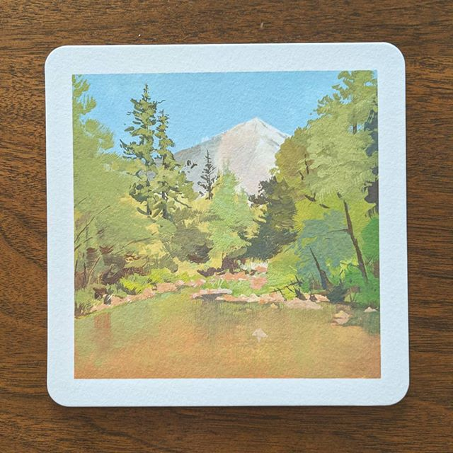 Painting at Yosemite over the weekend ☺️ it was a tough art time but the views are hard to beat... So glad we got to experience the wonders of nature 😗 aka dipping our toes in the river after painting because it's hot. #paintcation #allieverwanted #art #travel #nationalpark #yosemite #mirrorlaketrail #gouache #pleinairpainting #artadventure