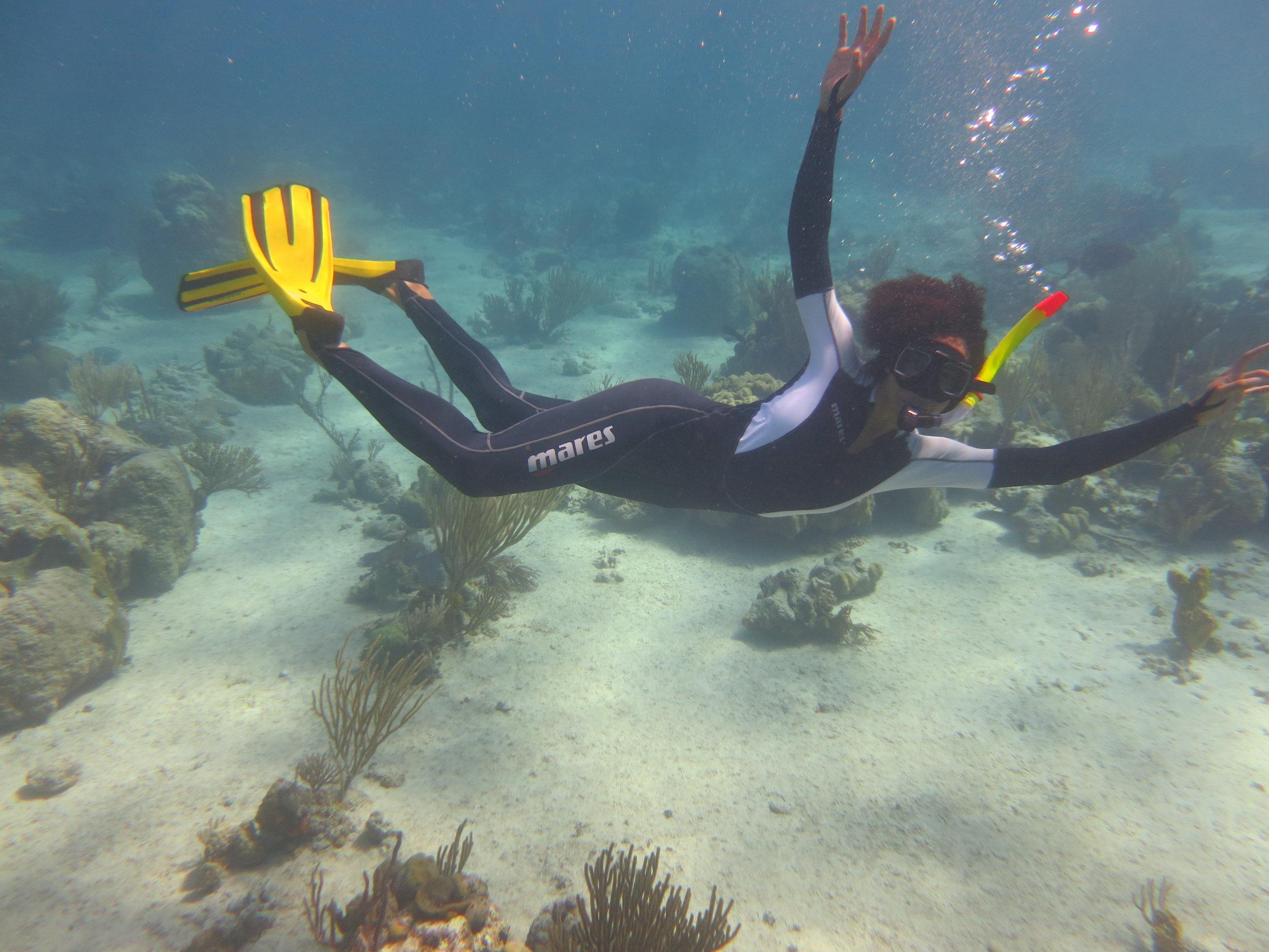 Ayana snorkeling in Bahamas - Ayana.JPG