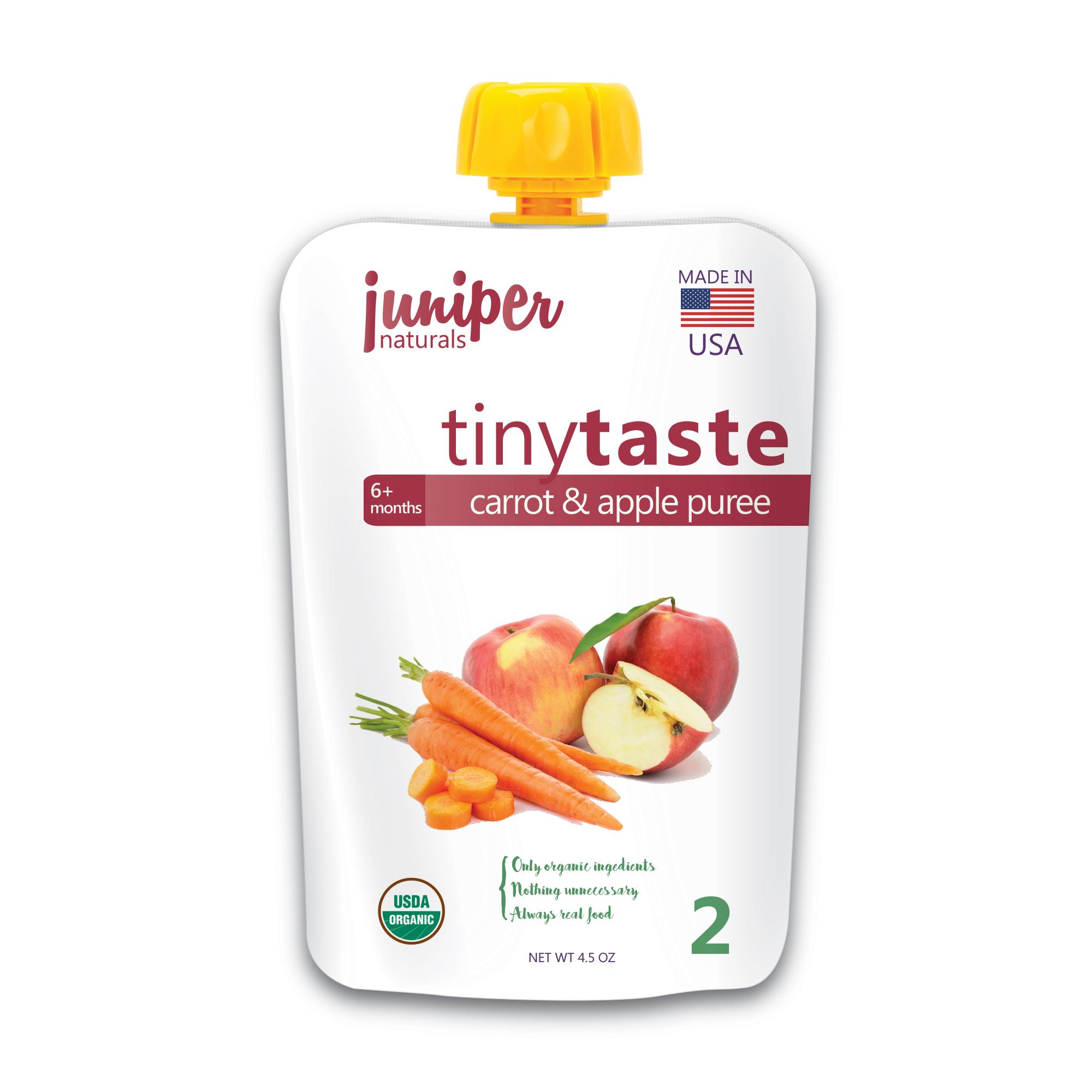 Juniper Naturals carrot apple puree