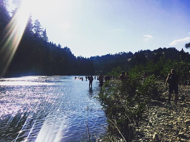 F R E E D O M Happy Fourth! from our happy place on the south fork eel river . . . #trueamerica #4thofjuly #californiasummer #eelriver #mateel #norcal #humboldt #riverdays #motherearthengineering