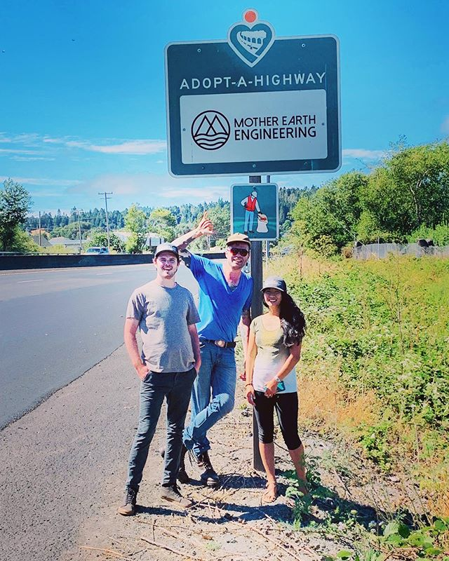 We adopted a highway! The MEE crew at our strip of the 101 on the northbound side by Rohner Creek Bridge to Palmer Blvd.  We are so stoked to participate in this program and provide regular trash pickups and maintenance.  As a boutique firm, we exist and thrive because of this community. It is so important for us that we contribute to our neighborhood, improve our local environment, live and work by example. Holler if you see us or take a pic at our AAH sign (we're super proud of it 😉). 🗺 60.6-62.6  #adoptahighway #hum101 #humboldt #humboldtcounty #dogoodfeelgood #communitycleanup #greenliving #humboldtliving #thecrew #redwoodhighway #mee #motherearthengineering
