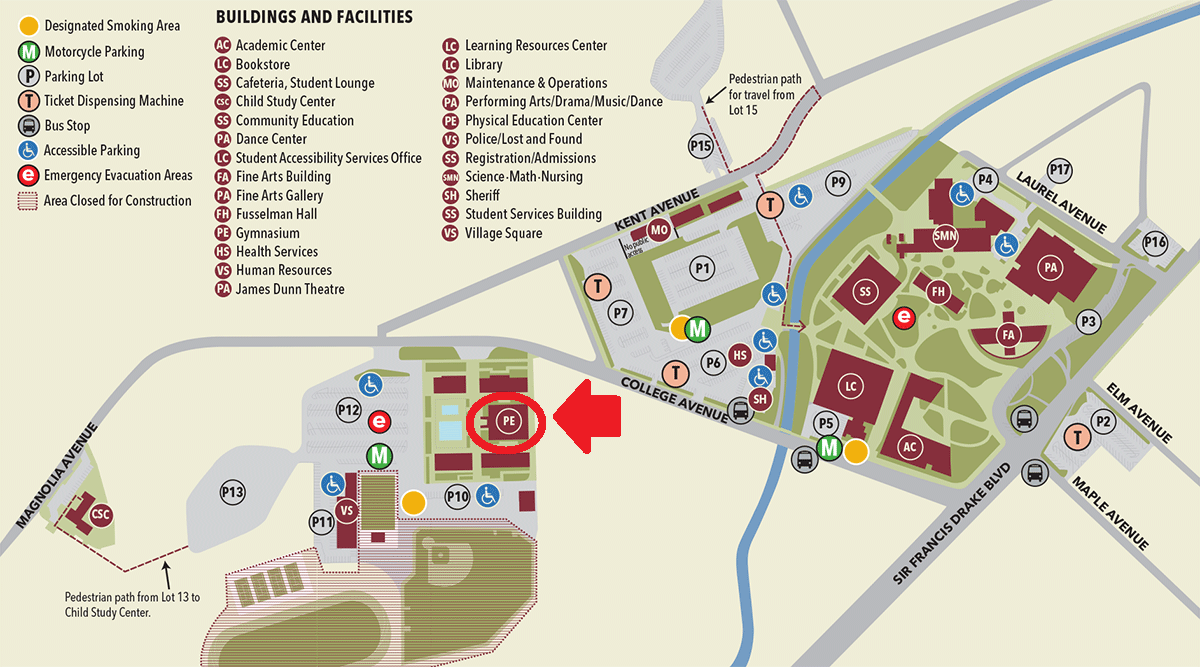 College Of Marin Campus Map | Global Map