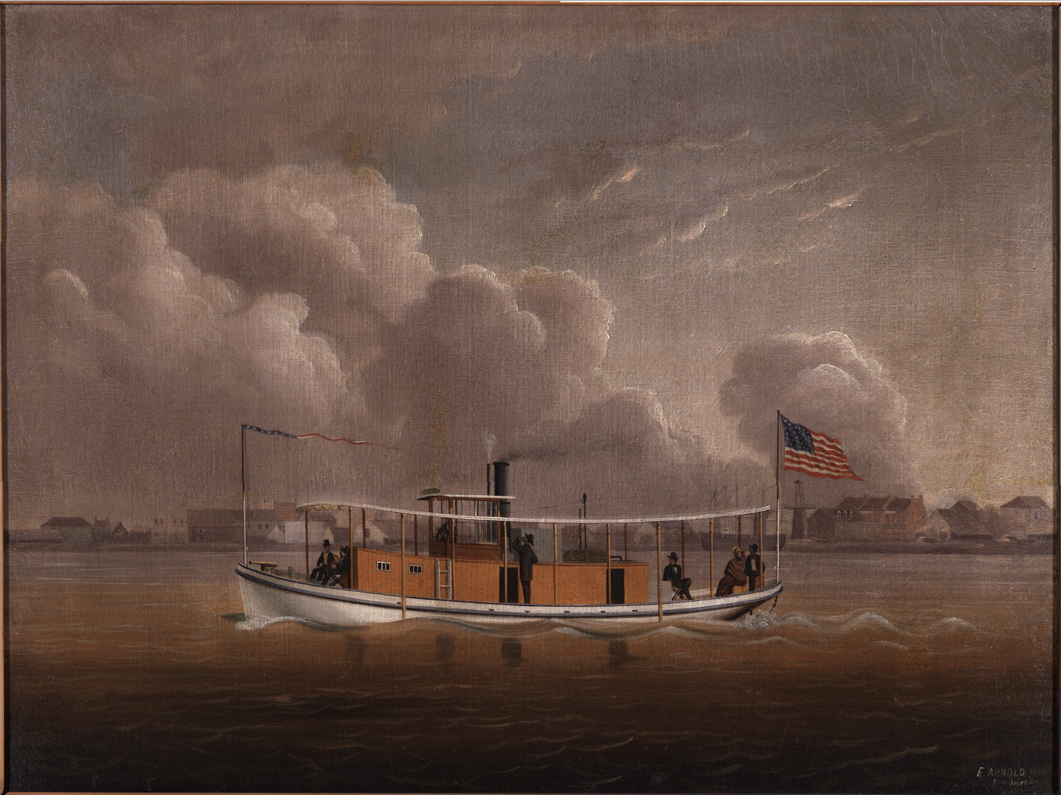1865 - Steamboat Passing Faubourg Washington by Edward Everard Arnold