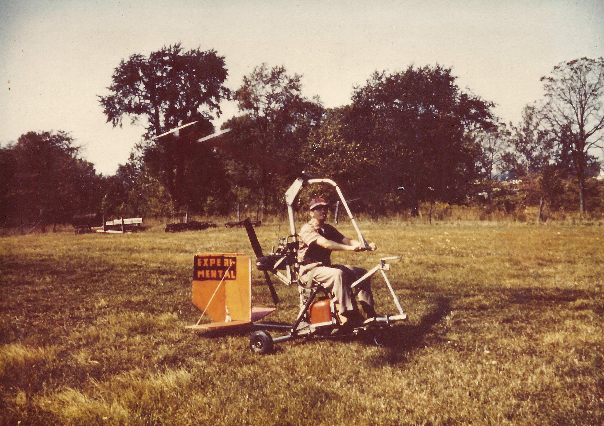 A self-built gyrocopter.