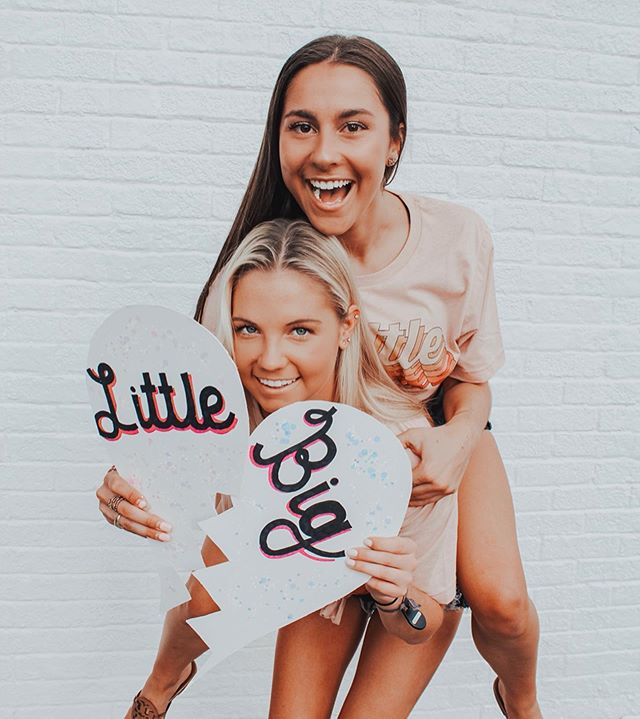 Sisters by chance, Big-Little by choice ♡ this week we are reminiscing on some of our fav memories from the past year to show why we cherish our sisterhood so much! ⋆ ⋆ join us in the fun by following the hashtag #SistersByChanceBigLittleByChoice to see our sisters' cutest phi fams 🤩💕