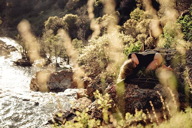 """Embracing vulnerability is my big teacher these days. Throughout my life I have gotten real good at grieving alone, then """"tidying it up"""" when I go out into the world. Presenting that I'm okay and I've got it together. Recently life is asking me to let go of this mask. To be seen, to ask for support, to be messy. To be loved there. To learn to love myself there. . . And you know what? I have a feeling that through vulnerability our true gifts emerge. I'm looking forward to less hiding, watering down and more birthing through the canal of unfettered realness. I'm ready to stop denying myself the love that is always here. Ya with me? . . Photo: @colehatcherphotography . . #vulnerability #embodiment #feels"""