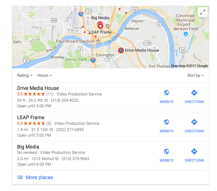 How to choose a video production company - Google Reviews in Google Maps