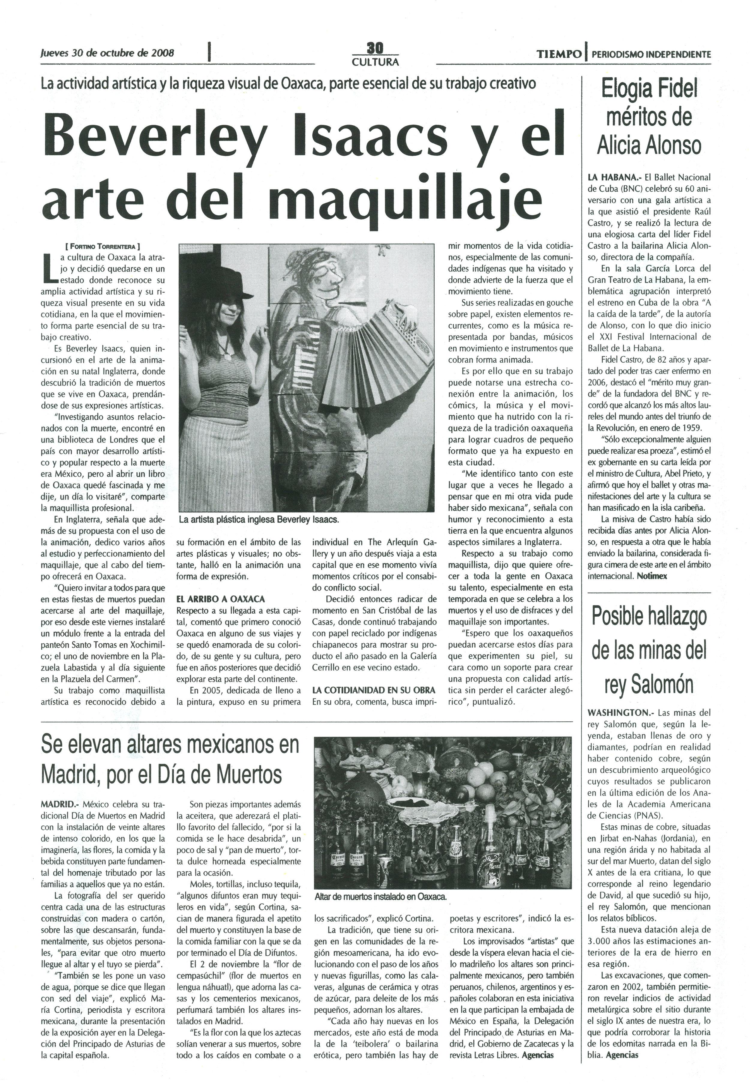 El Tiempo | 30 October 2008
