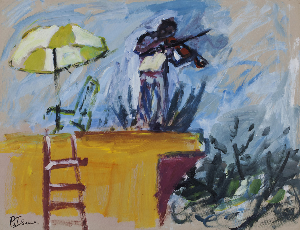 FIDDLER ON THE ROOF  Acrylic on Canson Paper |65 x 50 cm | 2010