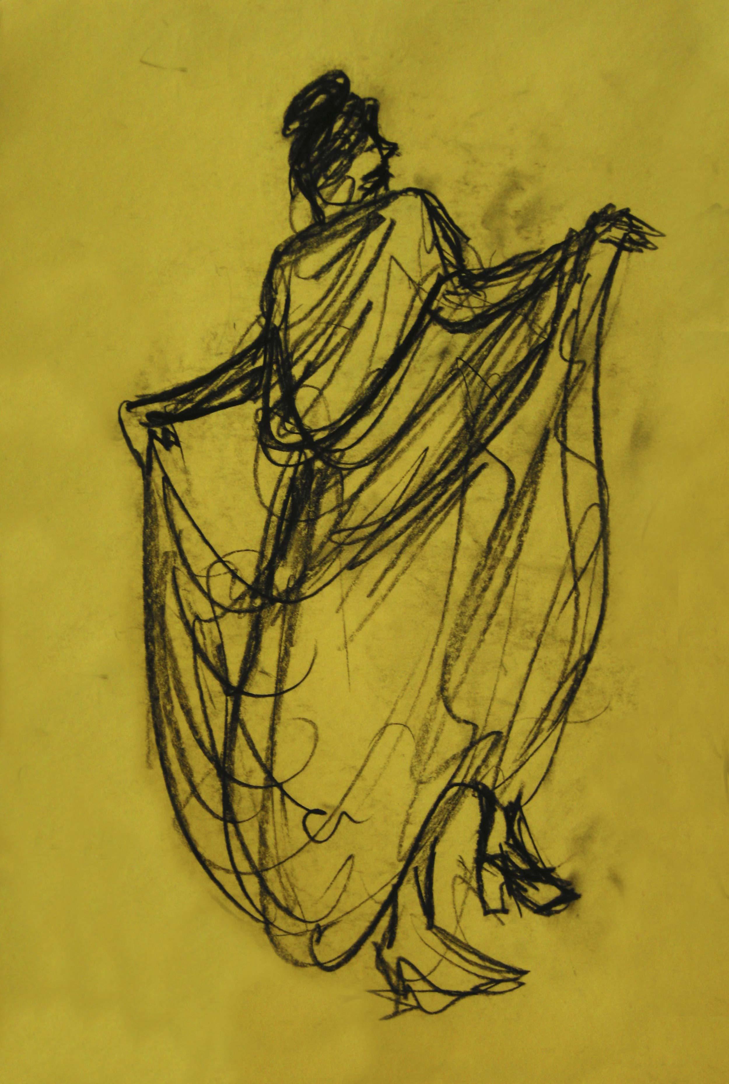 FANDANGO  Charcoal on paper  32 x 41 cm   2008