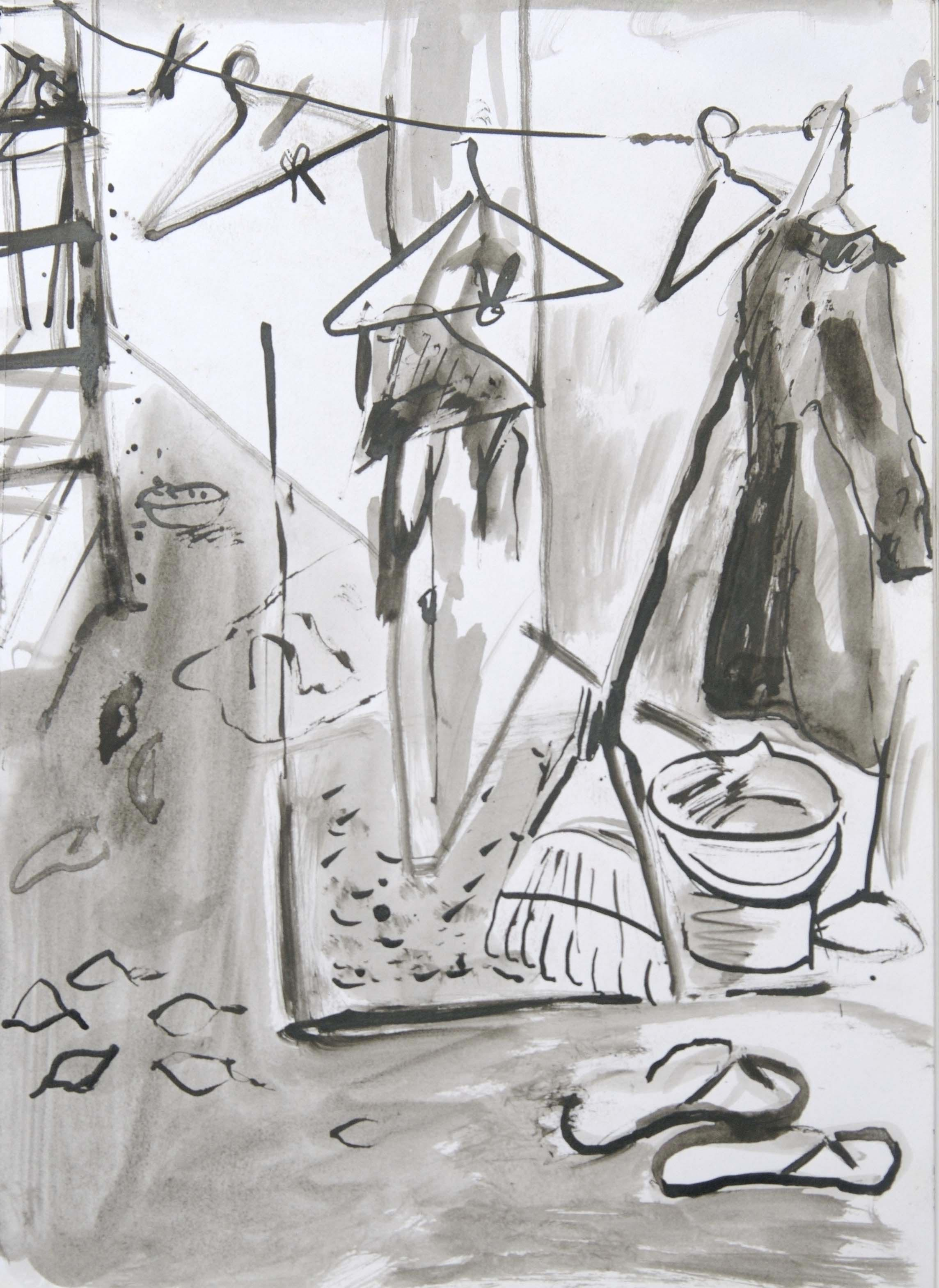 BACKYARD  Pen and Ink Wash on Paper | 2008