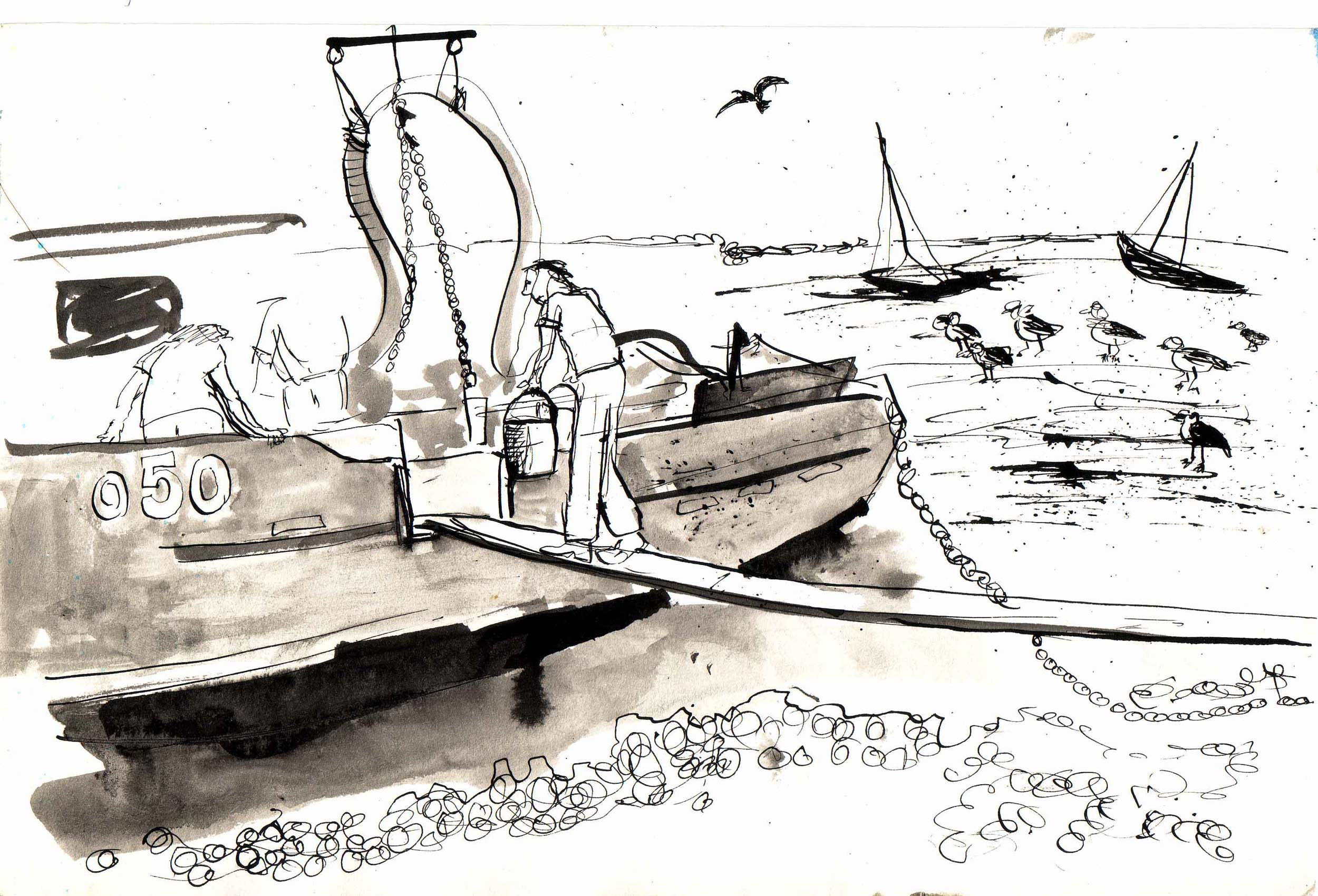 COCKLER-LEIGH-ON-SEA  Pen and Ink wash | 30 x 21 cm | 1994  (available) £40