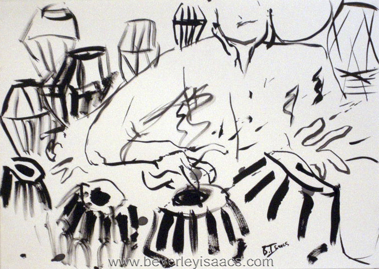 KULJIT BAHMRA MBE  Brush and Ink on Paper | 2015  (available)