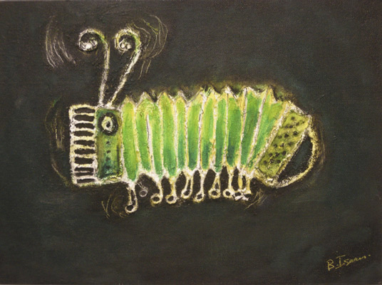 SOUND OF THE CATERPILLAR  Oil on Canvass Board | 36 x 25.5 cm | 2010  Buy Framed £275.00