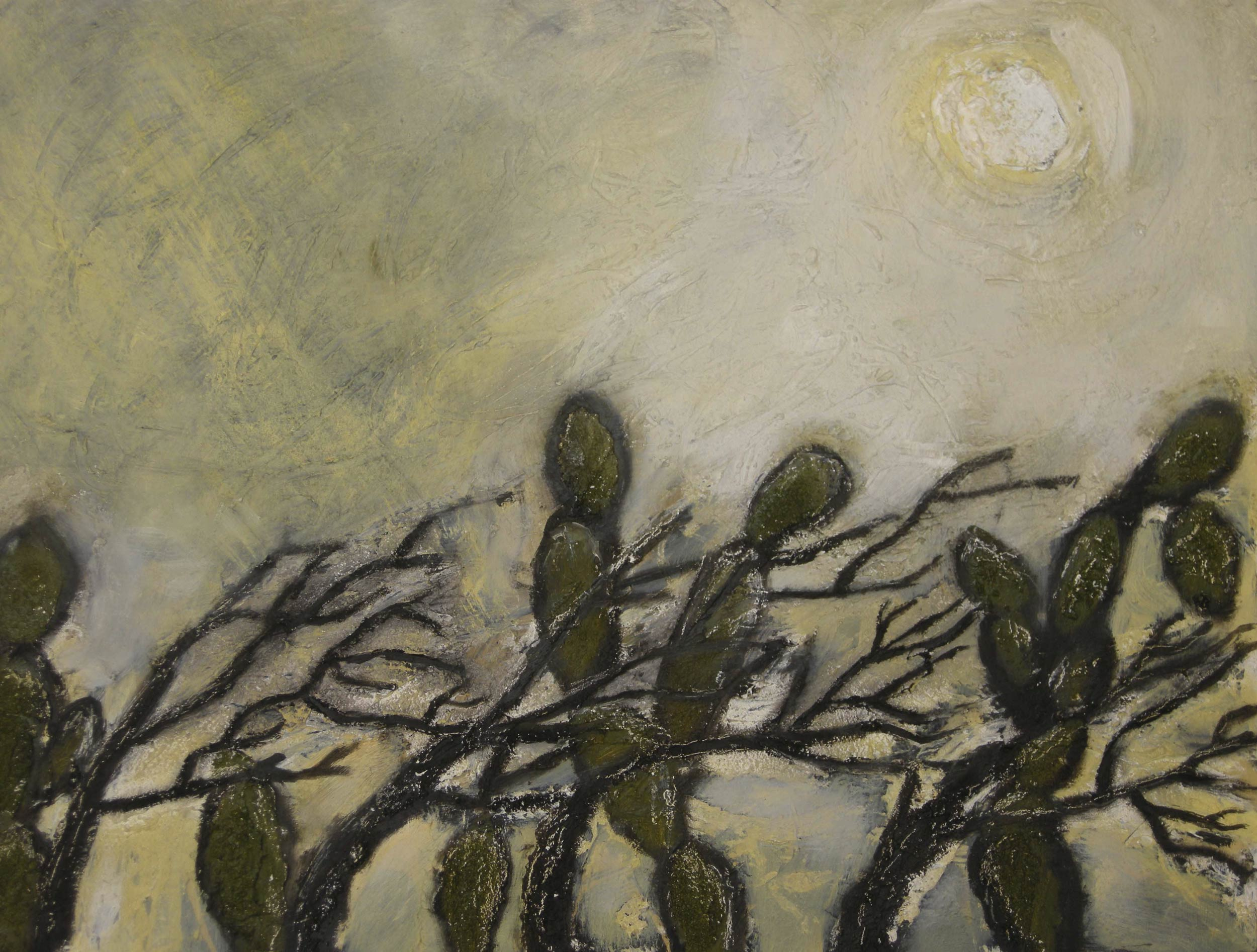 WINDY DAY IN SALINA CRUZ  Oil and Acrylic on Wood | 35.5 x 25.5 cm | 2009