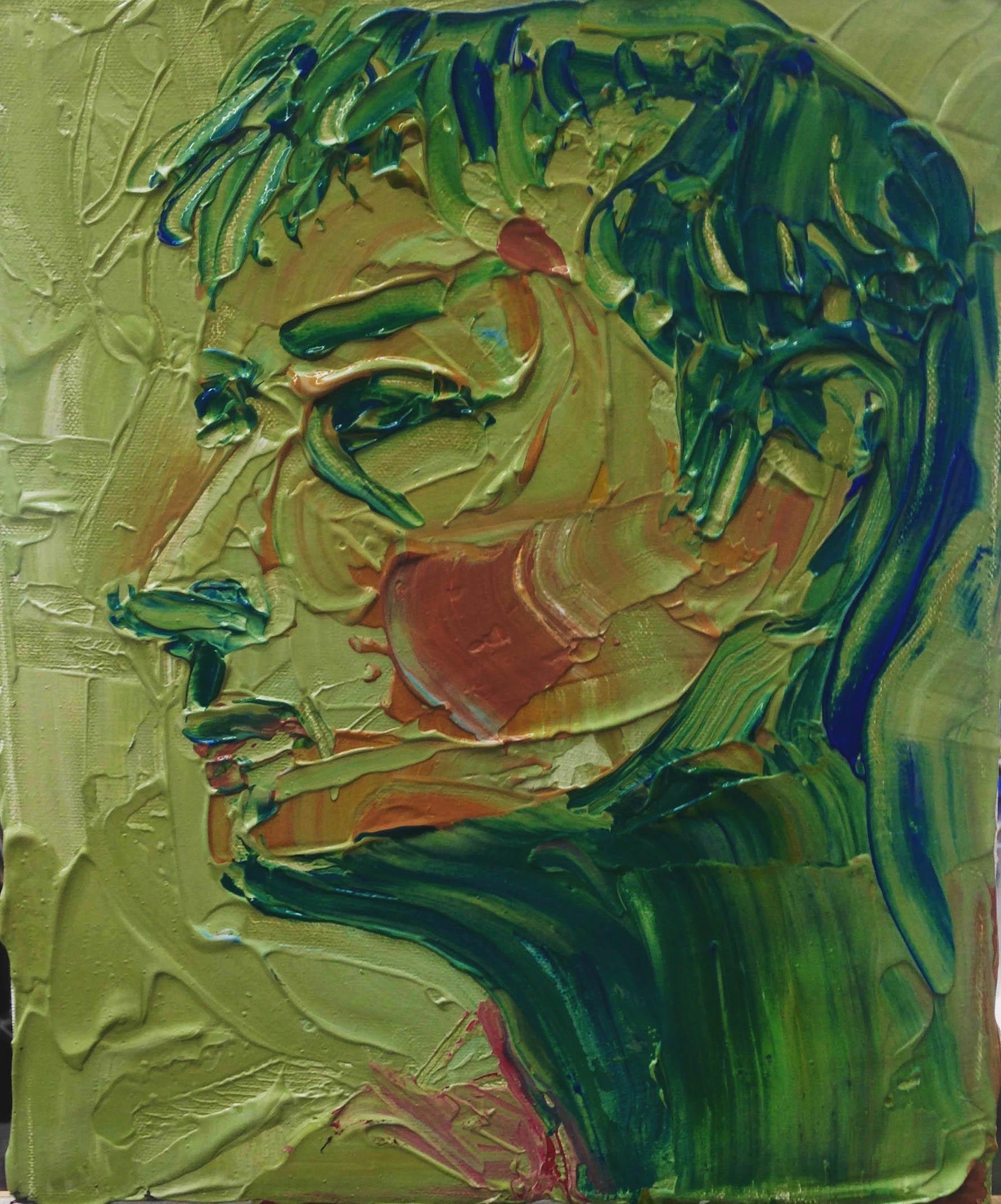 JACK   Acrylic on Canvas   24 x 30 cm   2017